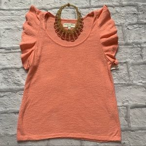 NWT Texture & Thread/Madewell Coral Top, Sz XS